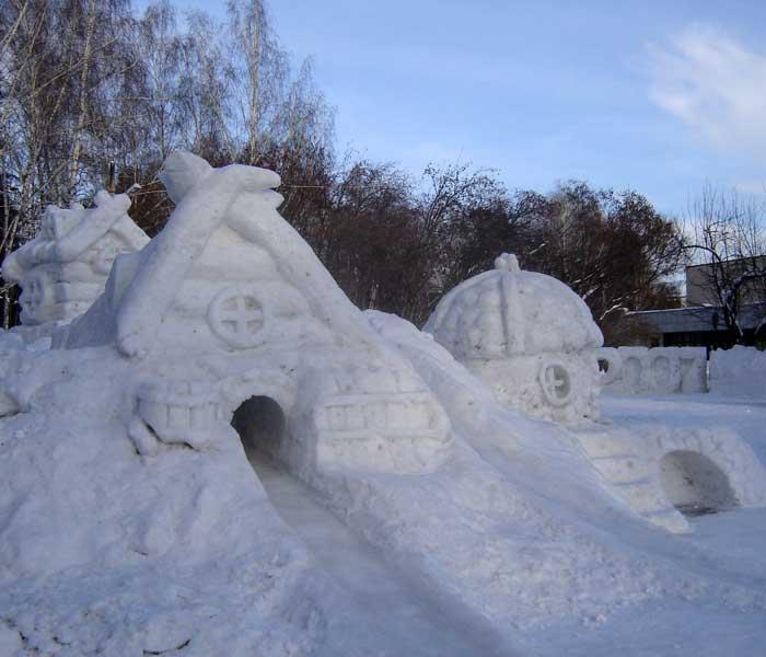 Зимний город своими руками